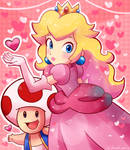 Princess Peach and Toad