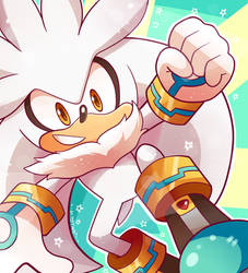 Silver the Hedgehog by Domestic-hedgehog