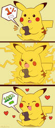 Pikachu recharged by Domestic-hedgehog