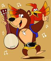 Banjo Kazooie in Hanna Barbera Style