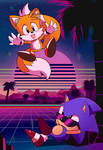 Sonic and Tails Vaporwave
