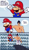 Mario and Kazuya