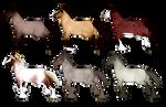 Adoptables: Roan Norwars ALL TAKEN by PinkPonyFarts