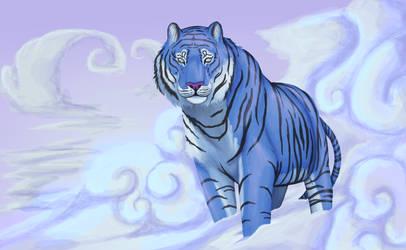 2016: Blue Tiger by PinkPonyFarts
