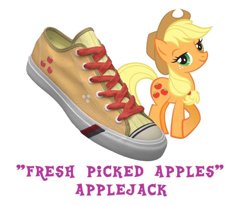 Applejack shoes by DoctorRedBird