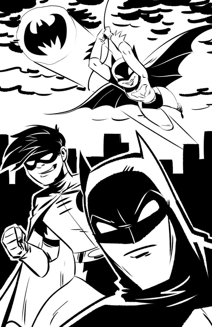 Inktober Bat-Family by malara-art