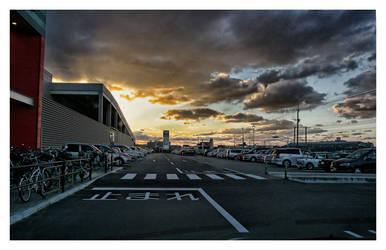 Sunset in Fukuoka, Japan by Bekon