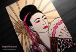 Daily Drawing #2 - Geisha Portrait [Vlog]