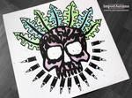 InkTober 2016 Day 13 - Jungle Bullet Skull