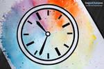InkTober Day 19 - Watercolour Clock! [Speed-paint]