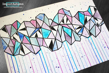 InkTober Day 26 - Abstract Triangle Artwork! by ImportAutumn