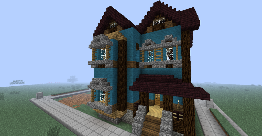 Minecraft Build 002 Victorian House By Themultimechs On