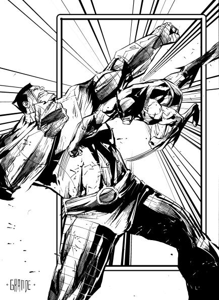 Colossus vs Wolverine by johnnymorbius