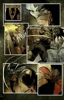 Batman vs Joker vs Bane pages