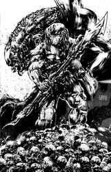 Aliens vs Predator by johnnymorbius