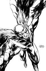 Hawkman by johnnymorbius