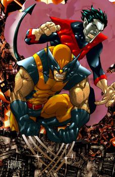 Wolverine and Nightcrawler