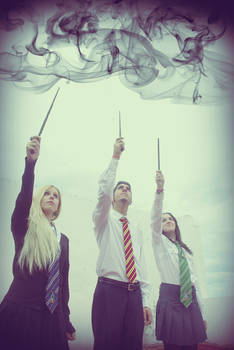 Dumbledore's farewell,Hogwarts Students Cosplay