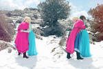 Together forever Elsa and Anna Frozen cosplay