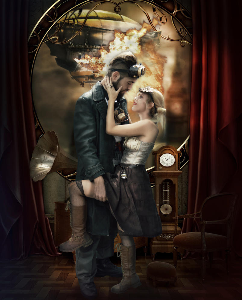 A clocwork war steampunk by MissWeirdCat