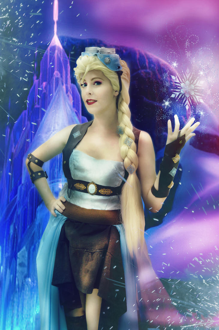 Steampunk Elsa Queen of Ice and Gears by MissWeirdCat
