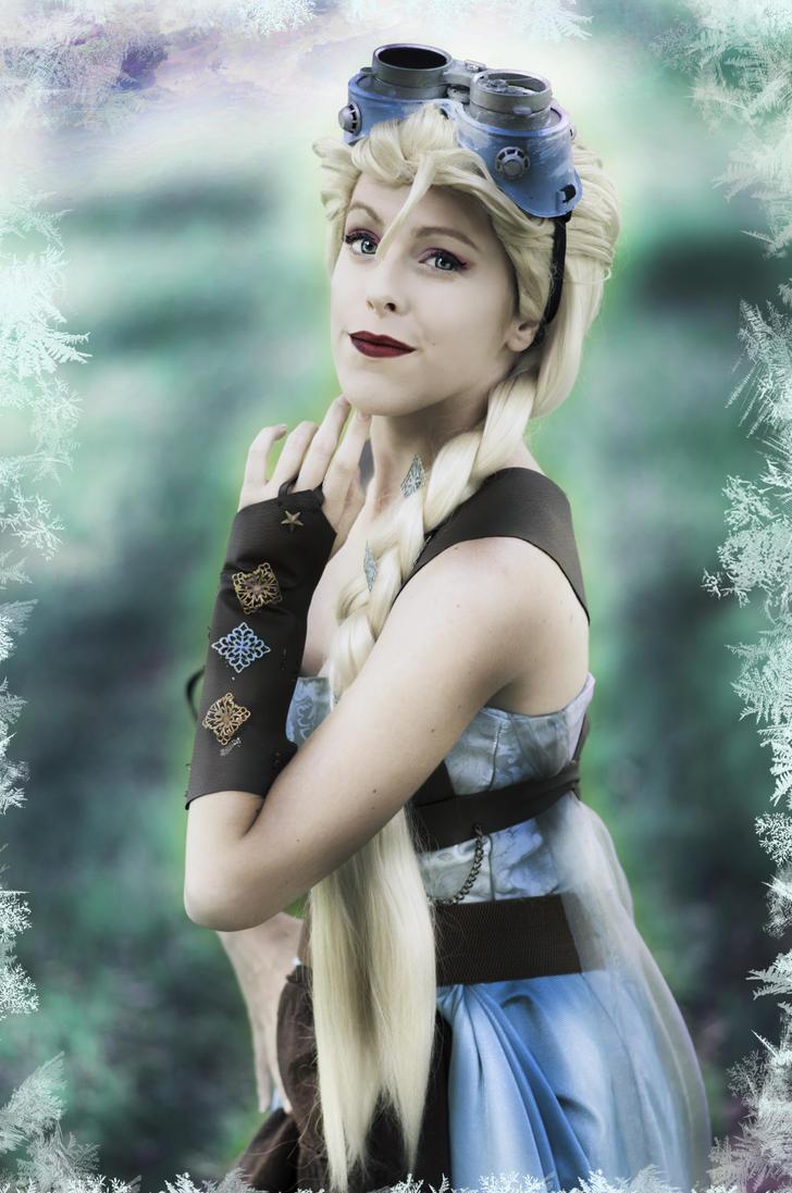 Icy Elegance Steampunk Elsa Cosplay by MissWeirdCat
