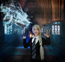 Princess Elsa goes to Hogwarts Frozen cosplay by MissWeirdCat