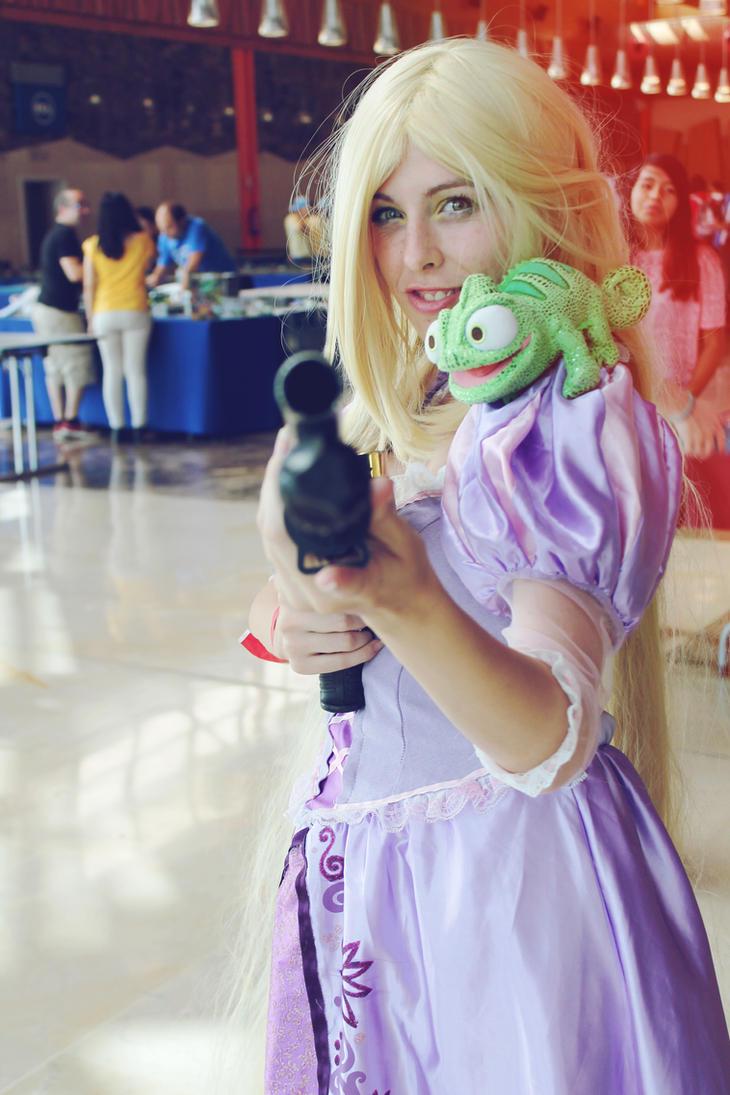 punzie got a gun tangled cosplay by MissWeirdCat