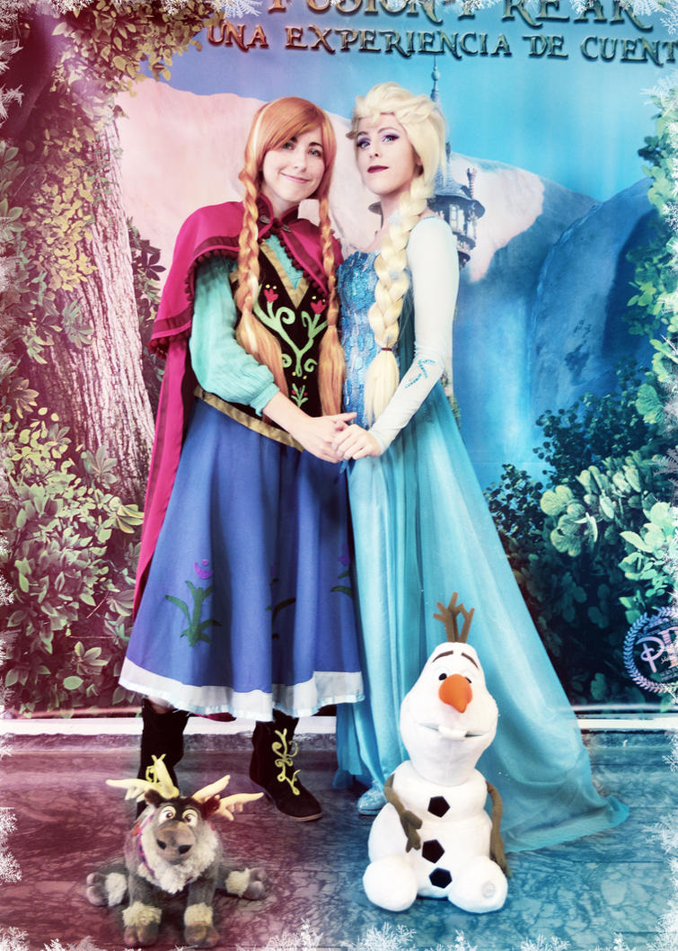 Elsa and Anna of Arendalle cosplay frozen by MissWeirdCat