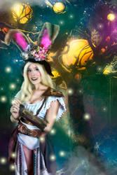 Steampunk Battle Bunny girl by MissWeirdCat