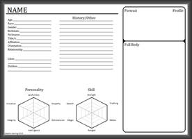 BLANK Character Sheet by daedric-darling