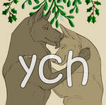 Christmas couple canine YCH (OPEN)