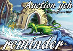 Auction REMINDER (NO BIDS ON 2 SLOT) by ElenPanter
