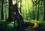 Pawprints in the forest (com) by ElenPanter