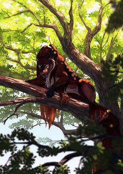 Hunter in the tree (com)