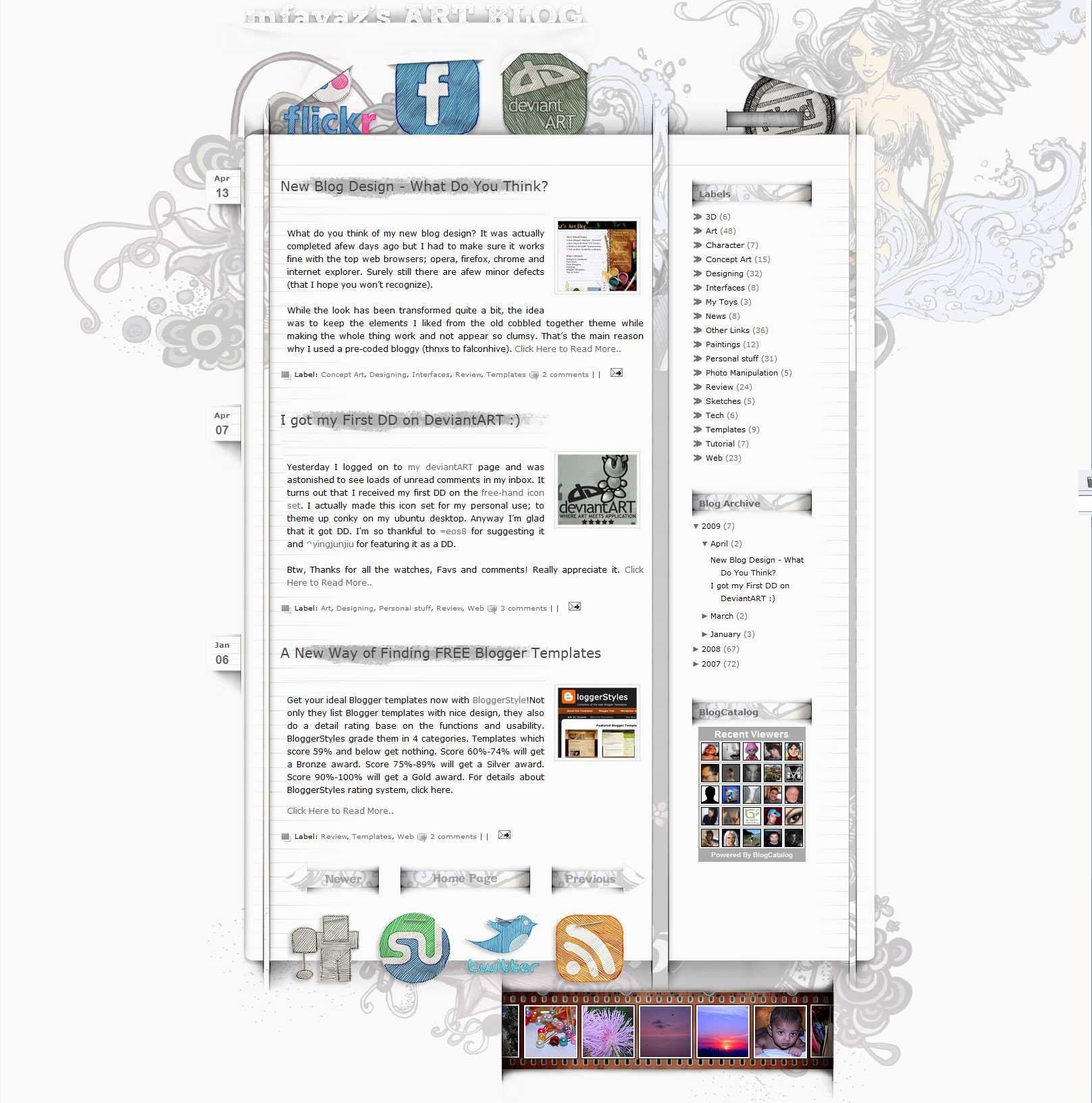 New Blogger Interface by mfayaz