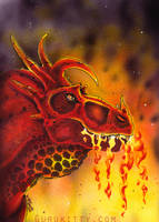 Fire Dragon by Marker-Guru