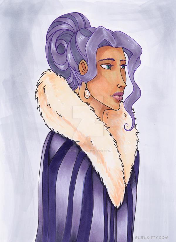 Pehny purple cape by Marker-Guru