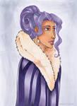 Pehny purple cape