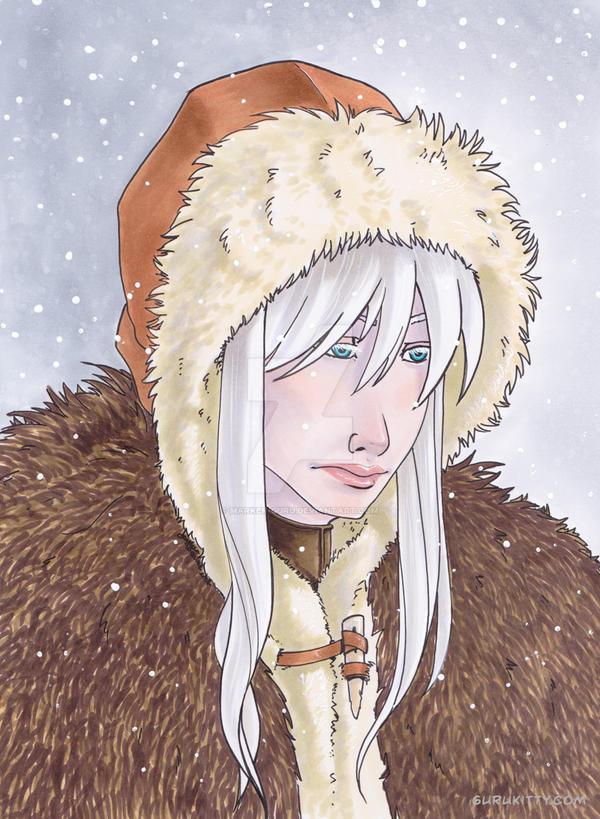 Stacy in Furs by Marker-Guru