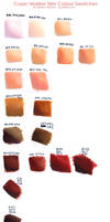 Skin swatches - mar 2014