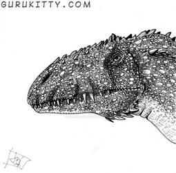 Inktober - Carcharadontasaurus