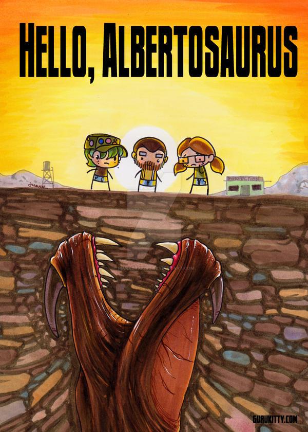 Hello, Albertosaurus - tremors poster by Marker-Guru