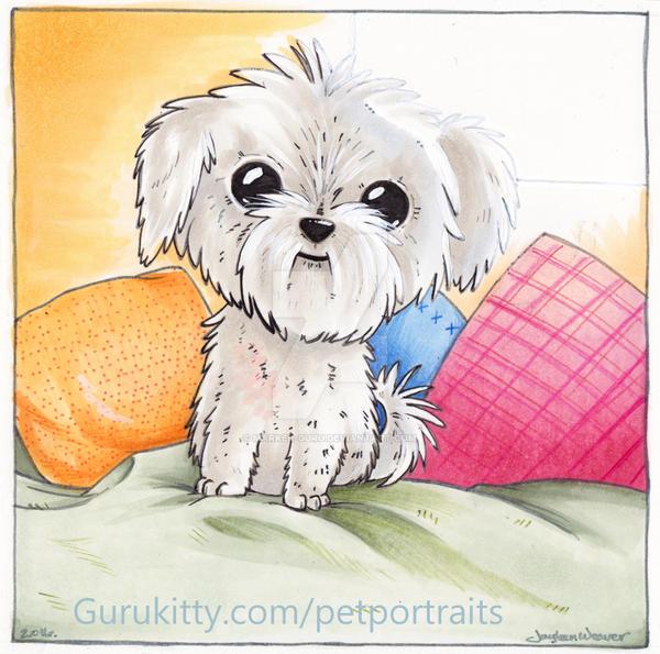 Fluff Pup Pet Portrait by Marker-Guru