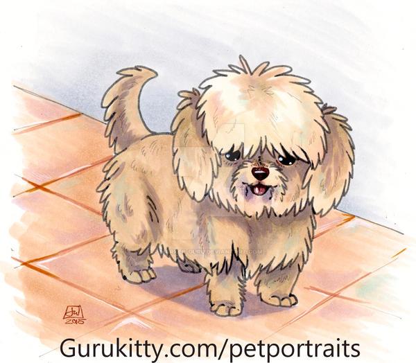 Teddy - Pet Portrait Commission by Marker-Guru