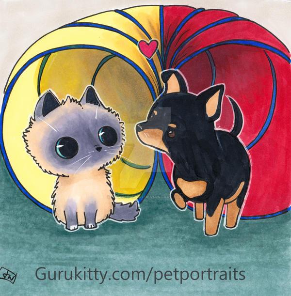 Skye and makara by Marker-Guru