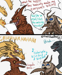 The Queen has no Chill by Extinct-Doodles