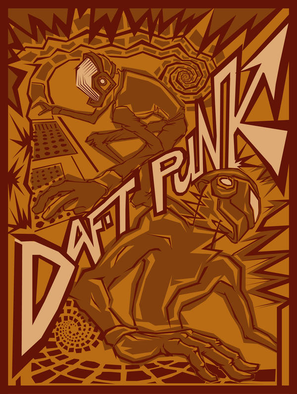 Daft Punk - mock poster by mercie