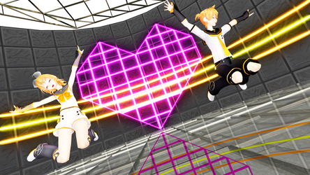 Roki MMD Rin and Len by EmberAce216