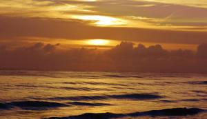 Early Morning Scene On The Ocean 2016
